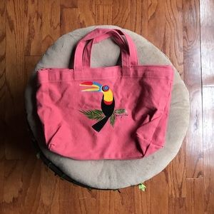 See by Chloe Pink Bird Canvas Bag